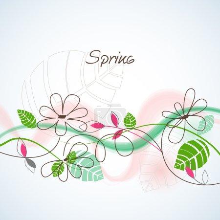 Illustration for Spring background - Royalty Free Image