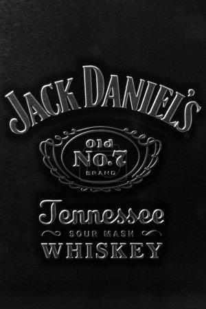 Photo pour Marque de Jack Daniel sur la boîte en métal originale - image libre de droit