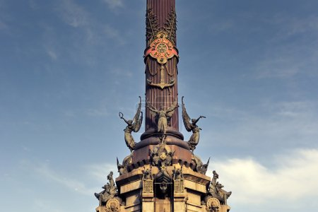 Fragment of famous monument for Christopher Columb...