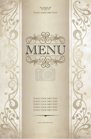 Illustration for Menu cover vector design - Royalty Free Image