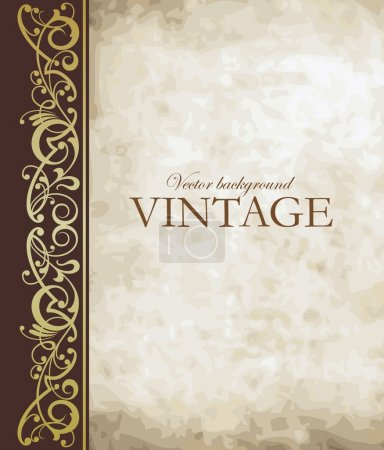 Photo for Vintage vector background - Royalty Free Image
