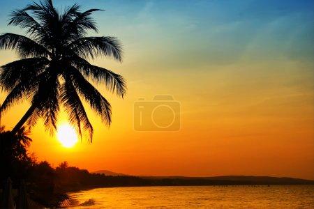 Photo pour Photo du lever du soleil sur la mer, Vietnam - image libre de droit