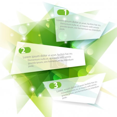 Illustration for Three green vector banners - Royalty Free Image