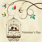 St Valentine's day greeting card with birds