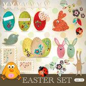 Easter scrapbooking design elements set