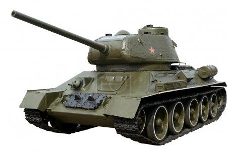 Photo for Soviet tank T-34-85 of the second world war. Isolated with clipping path. - Royalty Free Image