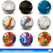 Nine different marble illustrations