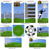 Soccer ball stationary