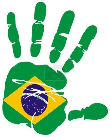 Handprint flag of Brazil