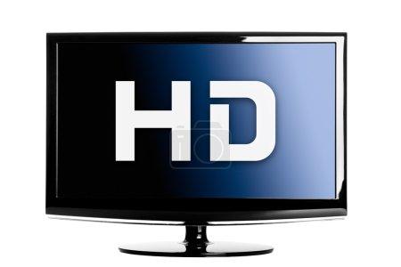 Photo pour Haute définition lcd TV isolé sur un fond blanc . - image libre de droit