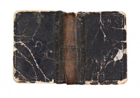 Photo pour Ancien livre ouvert - couverture - vers 1900 - isolé sur blanc - image libre de droit