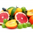 Collection fruit isolated on a white background...