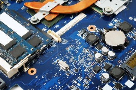 Photo for Electronic circuit macro - Royalty Free Image