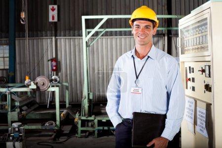 Technician in factory