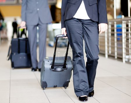 Passengers walking in airport