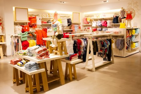 Photo for Interior view of children's clothing store - Royalty Free Image