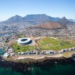 Overall aerial view of Cape Town, South Africa...