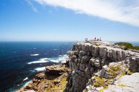 Tourists on cape of good hope