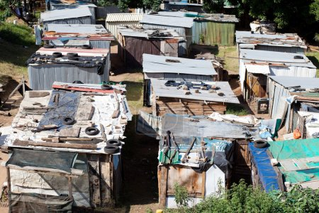 Photo for Informal settlement in south africa - Royalty Free Image