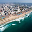 Aerial view of durban, south africa...