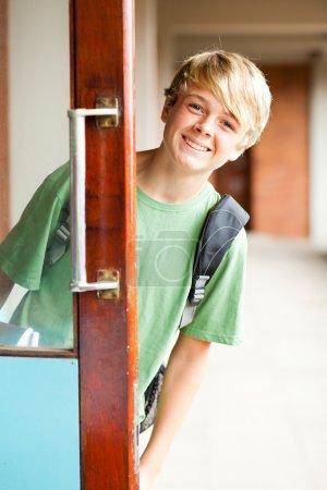 Cute high school boy