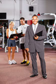 Gym manager and trainers