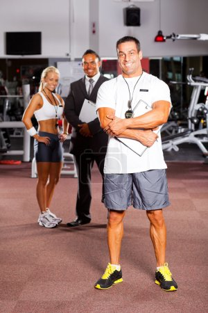 Trainer and gym colleague