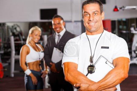 Muscular gym trainer
