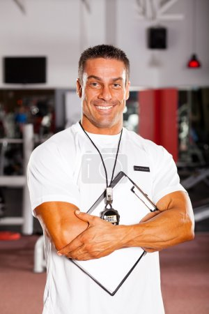 Photo for Handsome professional gym instructor portrait - Royalty Free Image