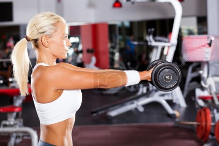 Fit woman doing workout
