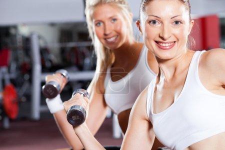 Two fitness women