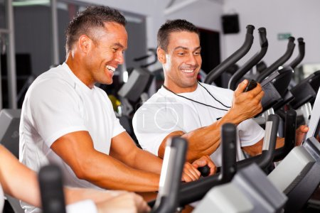 Fitness man and personal trainer