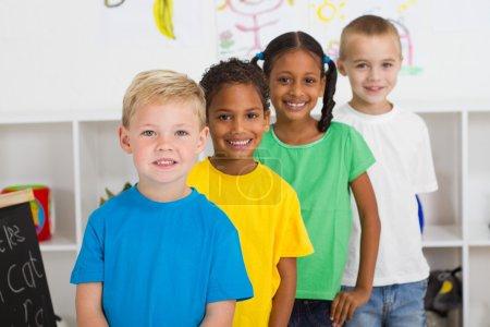 Preschool students in classroom