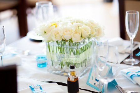 Photo for Table set for a wedding - Royalty Free Image