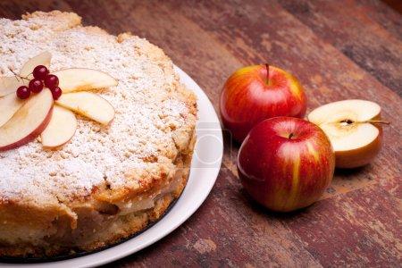 Photo pour Gâteau de cuisine internationale - desserts - avec des pommes de fromage et sure « ricotta ». - image libre de droit