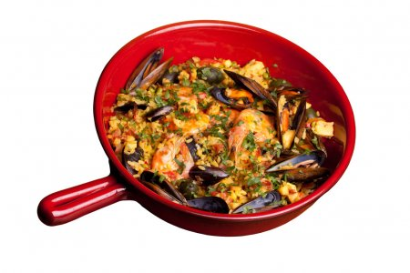 Pan With Paella, Isolated