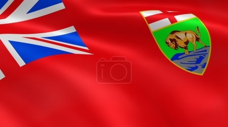 Manitoban Government flag in the wind