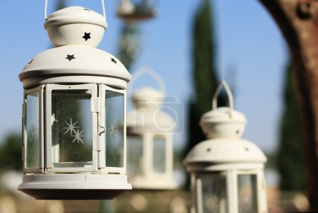 Lantern in the summer background
