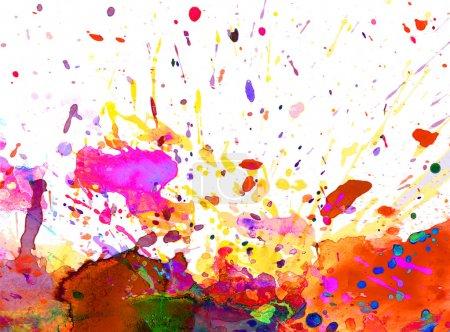 Photo for Colorful paint splash background - Royalty Free Image