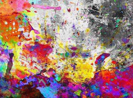 Photo for Colorful paint splash background grunge - Royalty Free Image