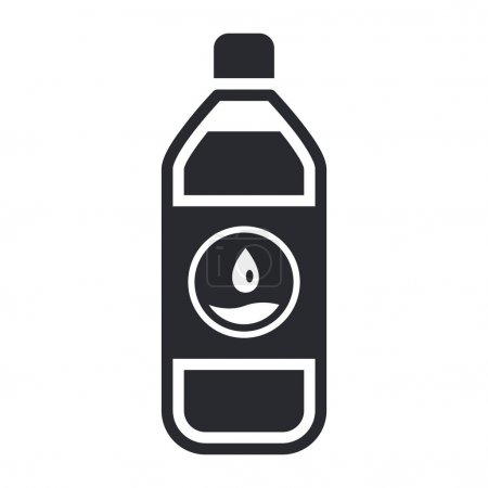Vector illustration of water bottle icon