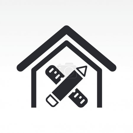 Vector illustration of interior design icon