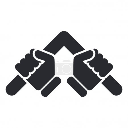 Vector illustration of single isolated strength bar icon