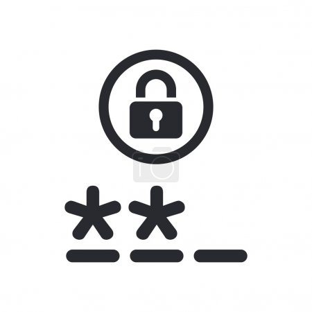Vector illustration of isolated password icon