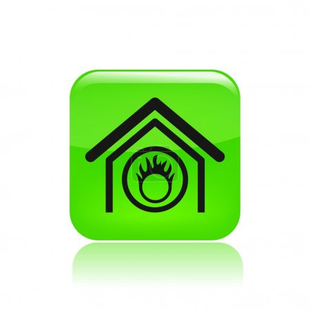 Vector illustration of single danger home icon