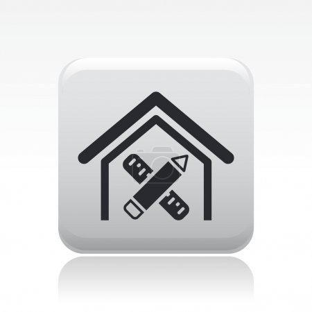 Vector illustration of single home design icon