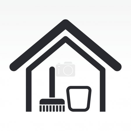 Illustration for Vector illustration of single isolated clean house icon - Royalty Free Image