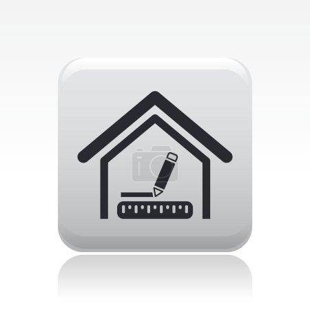 Vector illustration of single interior design icon