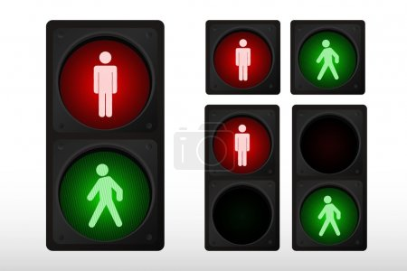Illustration for Vector illustration of single isolated traffic light icon - Royalty Free Image