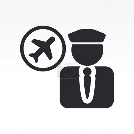 Vector illustration of isolated pilot icon